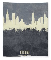 Chicago Illinois Skyline Fleece Blanket