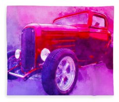 32 Highboy Watercolour Deuce On Acid Fleece Blanket