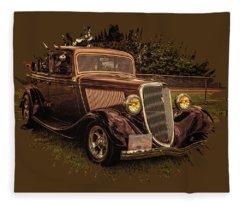Cool 34 Ford Four Door Sedan Fleece Blanket