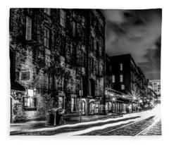 Savannah Georgia Waterfront And Street Scenes  Fleece Blanket