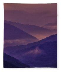 Allegheny Mountain Sunrise Two Fleece Blanket