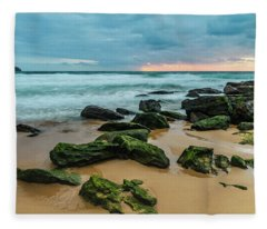Dawn Seascape Fleece Blanket