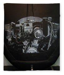 356 Porsche Engine On A Vw Cover Fleece Blanket