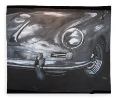 356 Porsche Front Fleece Blanket