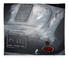 356 Porsche Rear Fleece Blanket