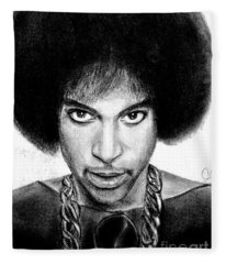 3rd Eye Girl - Prince Charcoal Portrait Drawing - Ai P Nilson Fleece Blanket