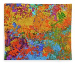 Abstract Painting Modern Art Contemporary Design Fleece Blanket