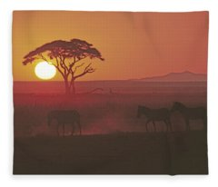 African Sunrise Fleece Blanket