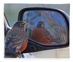 American Robin Fleece Blanket