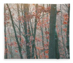 Autumn Forest Fleece Blanket