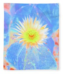 Blooming Cactus Fleece Blanket
