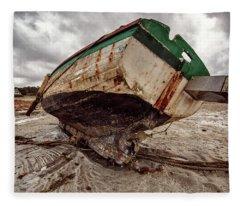 Boats By The Sea Fleece Blanket