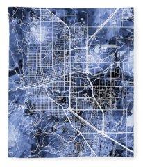 Boulder Colorado City Map Fleece Blanket