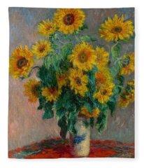 Bouquet Of Sunflowers Fleece Blanket