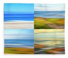 4 Coastal Impressions Fleece Blanket