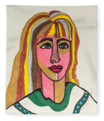 4 Faces Of Laurel - II Fleece Blanket