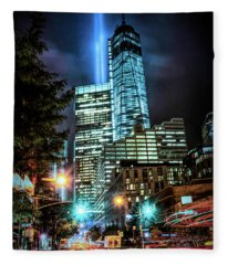 Freedom Tower Fleece Blanket