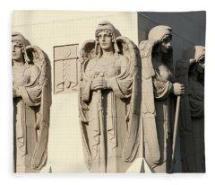 4 Guardian Angels Fleece Blanket