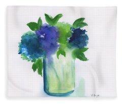 4 Hydrangeas Fleece Blanket