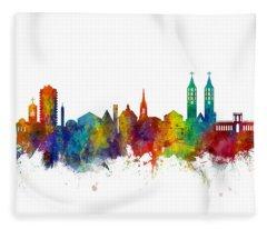 Kassel Germany Skyline Fleece Blanket