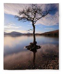 Loch Lomond Tree Fleece Blanket