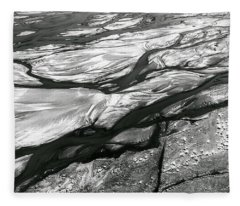 Fleece Blanket featuring the photograph Melting Ice Patterns In Iceland by Pradeep Raja PRINTS