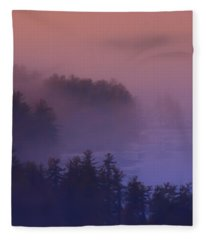 Melvin Bay Fog Fleece Blanket