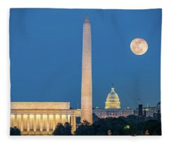4 Monuments Fleece Blanket