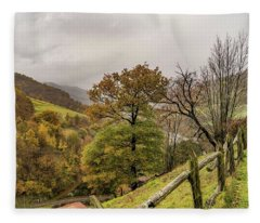 Mountains And Valleys All Around Fleece Blanket