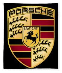 Porsche Logo Fleece Blanket