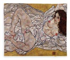 Reclining Woman Fleece Blanket
