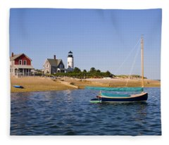 Sandy Neck Lighthouse Fleece Blanket