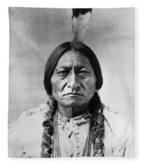 Sitting Bull 1834-1890. To License For Professional Use Visit Granger.com Fleece Blanket