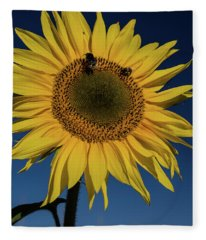 Sunflower Fields Fleece Blanket