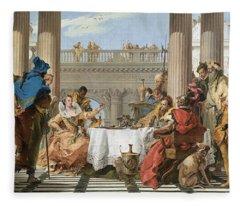 The Banquet Of Cleopatra Fleece Blanket
