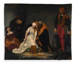 The Execution Of Lady Jane Grey Fleece Blanket