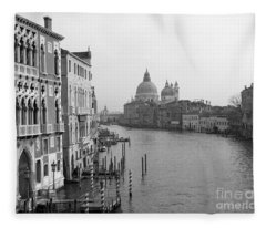 The Grand Canal In Venice Fleece Blanket