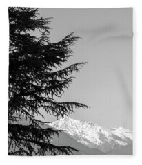 Fleece Blanket featuring the photograph Tree And Mountain by Mats Silvan