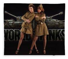 World Of Tanks Fleece Blanket