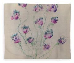 40x40 Colours In Bloom Fleece Blanket