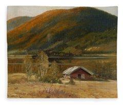4382195  Carl Brandt  1871-1930    Landscape Fleece Blanket