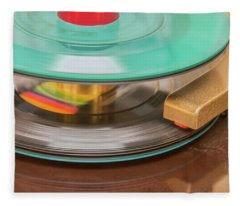 45 Rpm Record In Play Mode Fleece Blanket