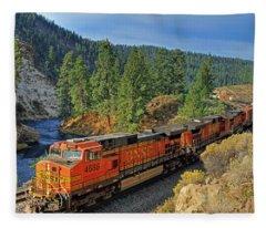Diesel Engine Fleece Blankets