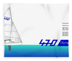 470 Olympic Sailing Fleece Blanket