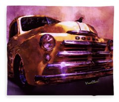 49 Dodge Pickup Watercolour Fleece Blanket