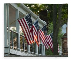 4th Of July Porch Fleece Blanket