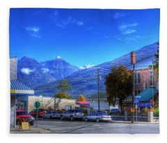 4th Street And A Ave Kaslo Fleece Blanket