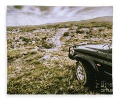 4wd On Offroad Track Fleece Blanket