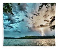 Beautiful Landscape Scenes At Lake Jocassee South Carolina Fleece Blanket