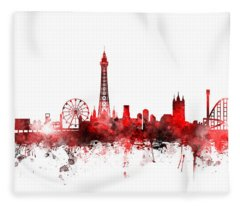 Blackpool England Skyline Fleece Blanket